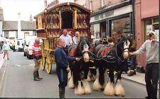 Romany Gypsy Ledge Wagon & 4 Horses Appleby 2014 Reading VardoBow Top Wagon p.c