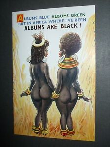 BAMFORTH SAUCY BLACK COMIC BARE BOTTOM BUMS ALBUMS ARE BLACK HUMOUR