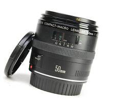 Canon EF Compact-Macro 50mm F2.5 Autofocus Prime Lens Front & Rear Lens Cap EXC