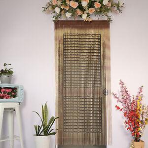 The Door- Bamboo Beaded Doorway Curtain, Door Beads Hanging Closet Curtain Bead