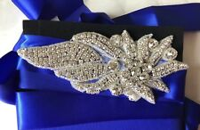 Royal Blue Crystal Diamanté Bridesmaid Belt Sash Wedding Dress Accessories