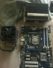 lga 1155 motherboard with cpu , cooler,gpu combo