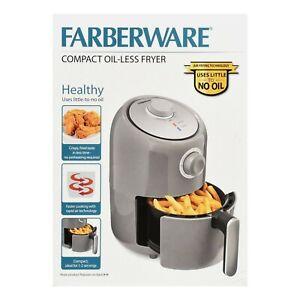 Faberware Air Fryer 1.9 QT Compact Oil-less Fryer Versatile Cooking Gray New