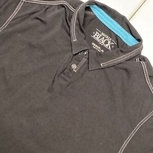 Buckle Black Adult XL Black Short Sleeve Casual Polo Athletic Fit Shirt Men's