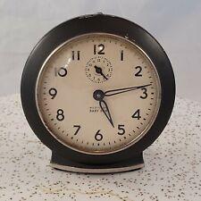 Westclox Baby Ben Alarm Clock  61-V Black Chrome Trim Works