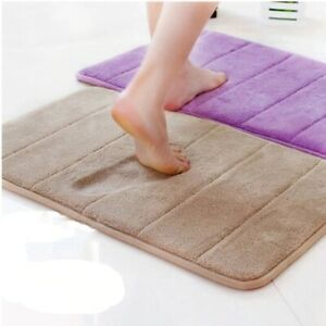 High Quality Water Absorption Rug Bathroom Mat Shaggy Memory Foam kitchen Floor