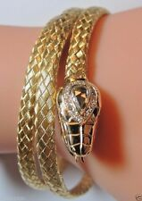 Victorian Rose Diamond Snake Bracelet 18K Yellow Gold EGL USA Appraisal $9,640
