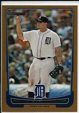 2012 Bowman Miguel Cabrera #101 Gold Baseball Card Detroit Tigers
