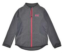 Under Armour Girls Gray & Pink Fleece Pull-Over Size 5