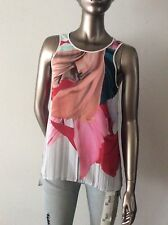 NWT Clover Canyon Dancing silk white floral flower blouse Top size XS - $211