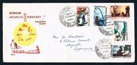 Antarctica • Australia • 1967 Royal FDC • Base cancel Mawson • Incl. $1 Mock Sun