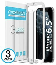 Maxboost Glass Screen Protector iPhone 2018 11 Pro Max & iPhone XS Max *3 Pack