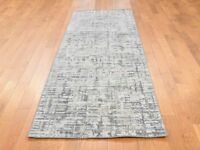 """2'6""""x8'1"""" Silk with Oxidized Wool HandKnotted Oriental Runner Rug G39654"""