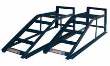 Paire De 2 Tonnes Voiture Métal Rampes 2000kg 2T Véhicule Garage Outils Bleu