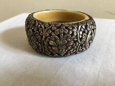 Tibetan Repousse Coin Metal Bracelet
