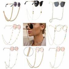 Fashion Sunglasses Chain Gold Eyeglass Read Bead Glasses Holder Eyewear Necklace