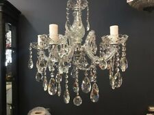 5 LIGHT CRYSTAL HALLWAY CHANDELIER CHANDELIERS NEW REAL CRYSTAL BEDROOM No.4