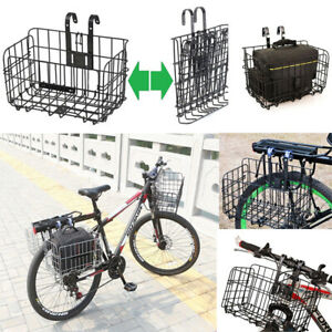 NEW Foldable Mountain Bicycle Bike Basket Front Rear Metal Wire Storage Carrier