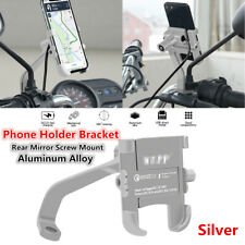 CNC Motorcycle Rear Mirror Screw Mount Phone Holder Bracket w/Fast USB Charger