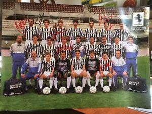 Juventus 88/89 poster Autografato