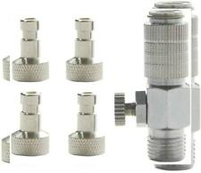 """Ebest Airbrush Quick Release Adapter connecter with Valve 1/8"""" for Paasche..."""