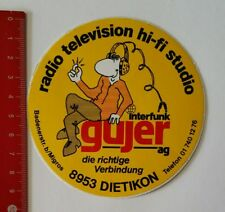 Aufkleber/Sticker: interfunk gujer ag - radio television hi-fi studio (160417122
