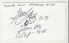 STEVE LUKE GREEN BAY PACKERS OHIO STATE AUTOGRAPHED INDEX CARD
