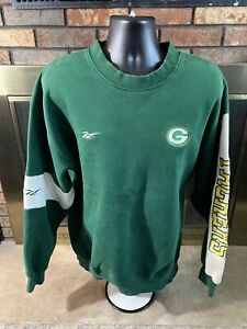 Vintage Green Bay Packers NFL Football Crewneck Sweatshirt Mens Sz Large Reebok