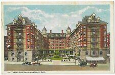 1921 POSTCARD OF HOTEL PORTLAND, PORTLAND, OREGON