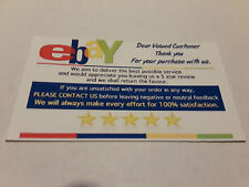 ebay Seller THANK YOU Business Cards 5 Five Star Feedback 100 Cards