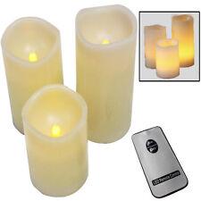 3 LED Kerzen mit Fernbedienung flammenlose Echtwachskerzen Wachskerzen