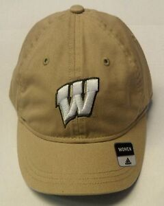 NCAA Wisconsin Badgers Women's Adidas Buckleback Curve Brim Cap Hat OSFA NEW