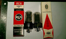 [2] Nos 6Ax4Gt Half-Wave Vacuum Rectifier Tubes Rca & Raytheon Tested