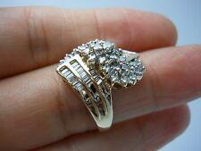 STUNNING 14K YG LADIES DIAMOND CLUSTER RING SIZE 7 1.50 CARAT TW  G92943-2