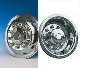 """4 x  22.5"""" stainless Volvo Truck Bus Coach wheel trims hub cover super deluxe"""