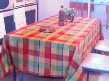 Cooma Multi Coloured Check Tablecloth - 140 x 180cm  6 seater