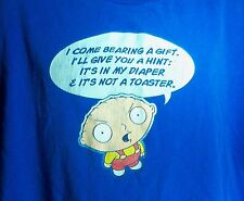 Family Guy Stewie Griffin T-Shirt Size 2XL Blue Sarcastic Humor