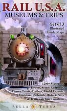 Rail USA Museums & Trips Map Guides 1200+ Train Trips, Museums, Railroads, More
