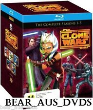 STAR WARS THE CLONE WARS 2009-2013: 1-5 - Animated SciFi TV Seasons NEW BLU-RAY