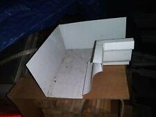 """5"""" Inside Gutter Corners, White Aluminum Gutter Corner (Inside), Box of 1"""