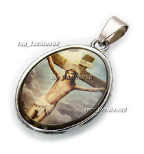 Wholesale Lots 10Ps Jesus Stainless Steel Beads Pendant Fit Necklace FREE