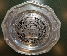 University of Notre Dame vintage pewter plate