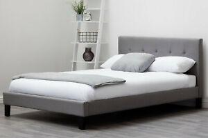 Dream Warehouse Blenheim Grey Fabric Bed - King Size
