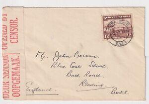 WW2 South West Africa KARASBURG S.W.A. Censored to Reading Berks