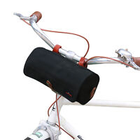 TOURBON Bike Handlebar Bag Rear Seat Pack Tools Pouch Waterproof Canvas in Black