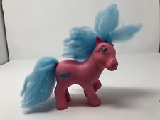 My Little Pony Vintage G1 Pony Bathtub Cutie Mark Blue Hair Pink Body