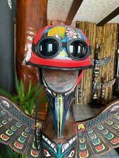 Chopper Helm Gr.L  Indianer Motiv Helme Bulzeye CASCO HELMET CASQUE BIKER Size.L