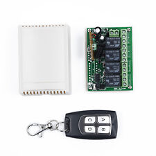 Empfänger 433mhz Relais Kabellose Fernbedienung Schalter Tor ABS 2ch Sender