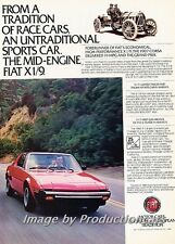 1980 Fiat X19  X/1/9 - Original Advertisement Print Art Car Ad J769