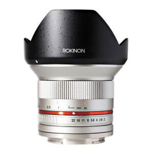 Rokinon 12mm f/2.0 NCS CS Lens for Fujifilm X Mount Silver